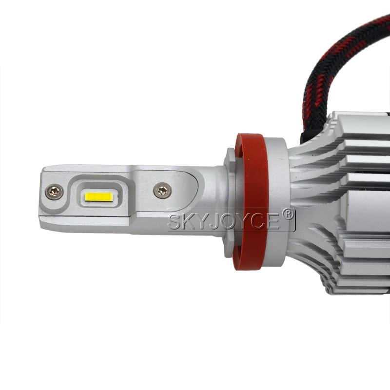 1 Set Car LED Headlight Kit F2 H4 H7 H1 H11 HB3 9005 HB4 9006 LED Bulb 72W 12000LM CSP Chips Turbo Fan 6500K Auto Headlamp Bulbs (13)