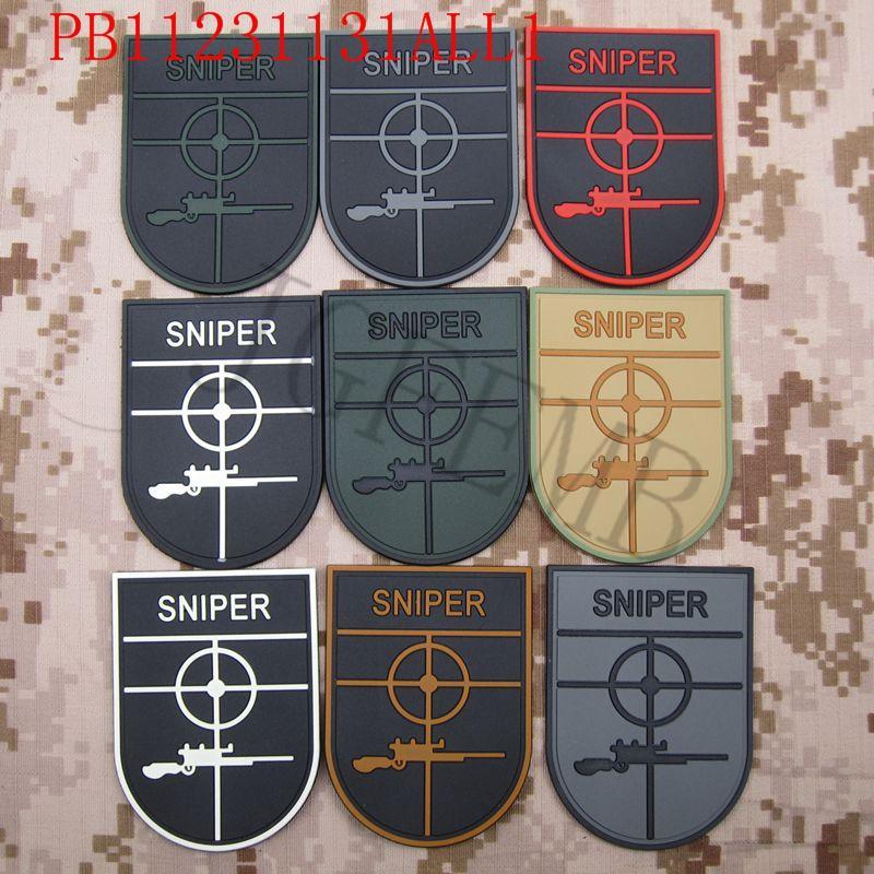 SNIPER Morale Military Tactics 3D PVC patch Badges