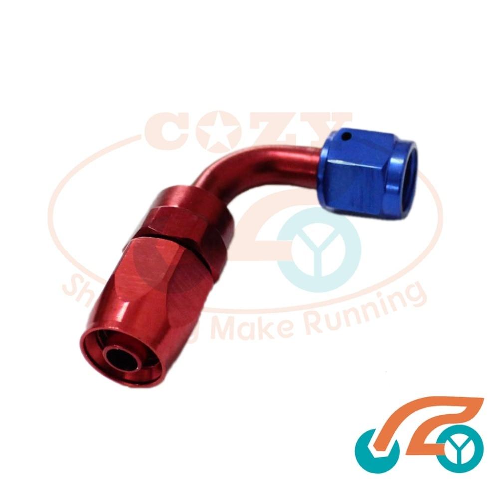 An8 8an an 8 45 degree reusable swivel ptfe hose end - 6 An An 6 90 Degree Aluminum Swivel Hose End Fitting Adapter Oil Fuel Line