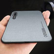 Business Vintage Silicone Phone Case For Huawei Honor 10 Soft p10 Plus Back Cover Coque