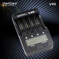 Novo v40 varicore lcd carregador de bateria 3.7 v 18650 26650 18500 16340 14500 18350 bateria de lítio 1.2 v aa/aaa nimh baterias