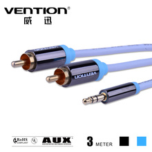 3M ice blue Stereo Audio RCA to RCA Cable audio 3.5mm male to male aux cables 3.5 mm stereo jack data cables for car video/TV