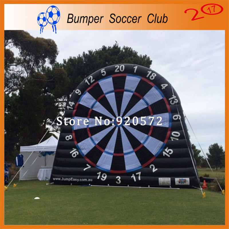Free shipping ! Free Pump ! 3m/4m/5m/6m china factory custom inflatable soccer dart board,giant inflatable dart board for kids