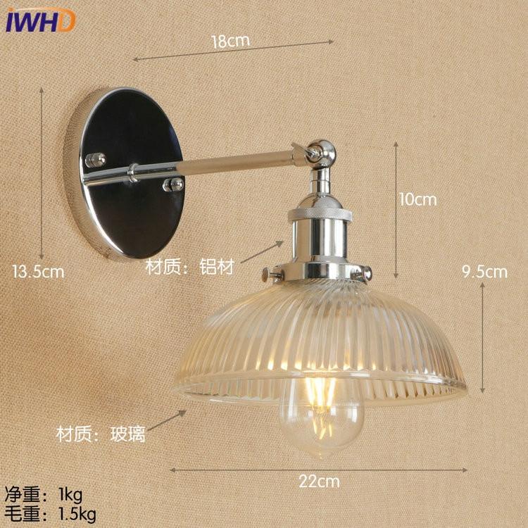 Iwhd Loft Edison Led Wall Lamp Adjule Vintage Wandlamp Gl