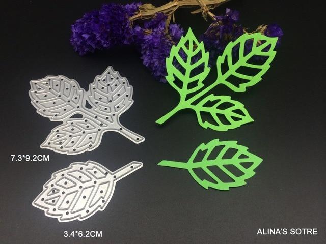 2 unid metal hojas de vid troquelado muere para Scrapbooking Tarjeta ...