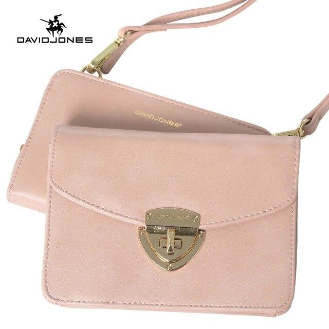 508814f6dd27 DAVIDJONES женские сумки искусственная кожа женские сумки на плечо  маленькая леди старинные сумка девушка Марка crossbody