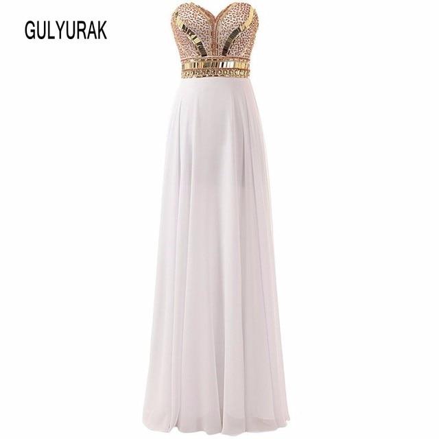 0654b20f8966 Long Prom Dresses 2017 New Arrival Luxury Beaded Sweetheart White Rose Gold  Sparkle Formal Dress Evening Dress Vestidos De Noche
