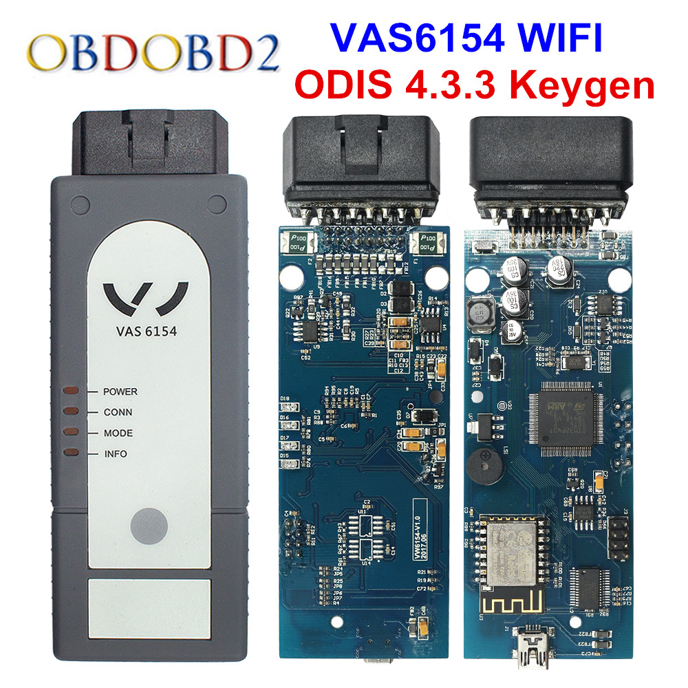 Original OKI VAS 5054A ODIS V4.3.3 Keygen Bluetooth AMB2300 VAS 6154 WIFI VAS5054A Full Chip VAS5054 UDS For VAG Diagnostic Tool цены
