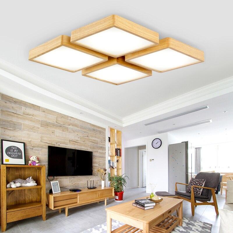 Horsten Einfache Holz Deckenleuchten Japan Stil Schlafzimmer Wohnzimmer  Cafe Home Beleuchtung Deckenbeleuchtung Massivholz Deckenleuchte In Horsten  Einfache ...