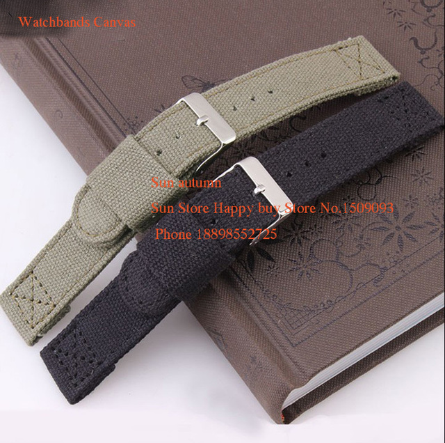 18/20/22mm New Sport Watchbands,Nylon canvas fabric Watch Strap, Stainless steel
