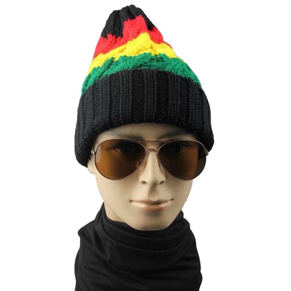 2017 Women Spring Winter Hats Beanies Knitted Cap Crochet Hat Rabbit Fur Pompons Ear Protect Casual Cap Chapeu Feminino A2