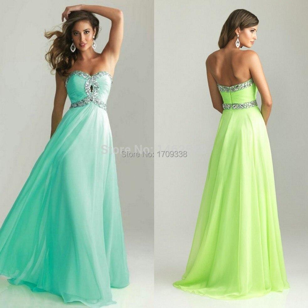 Vestidos largos color lima