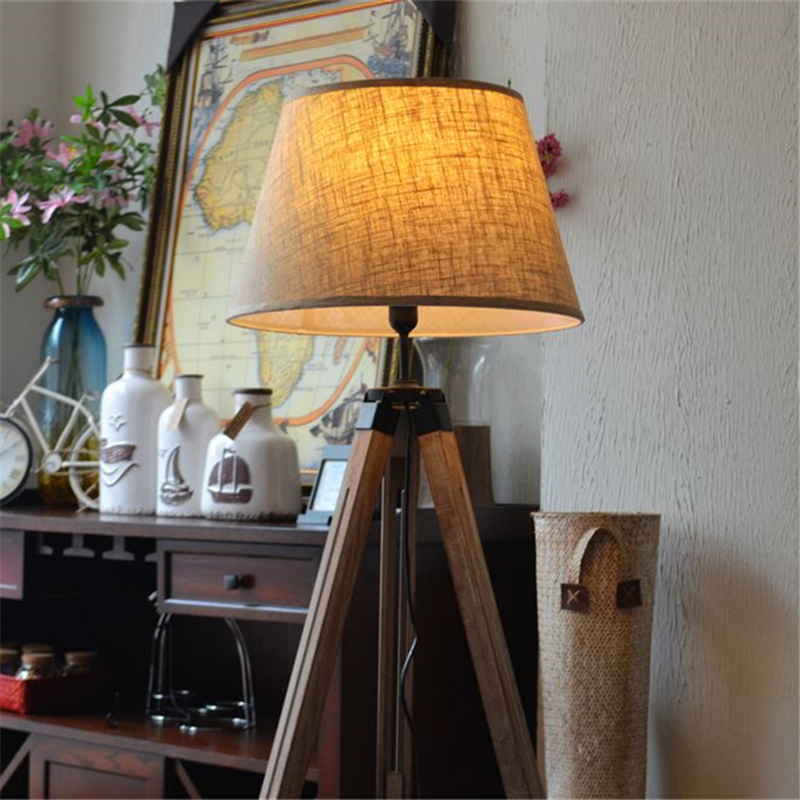 buy wonderland fabric lampshade wood floor lamp american rustic vintage art country decoration roombedside f 01 from