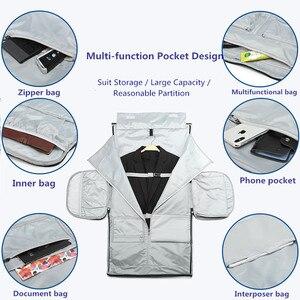 Image 5 - Ozuko男性旅行バッグ多機能大容量防水ダッフルバッグスーツ収納手荷物バッグ靴倉庫フィットネス
