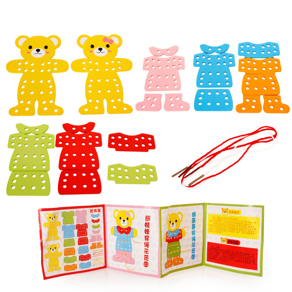 Kids Early Learning Resources Educational Wooden Bear ...