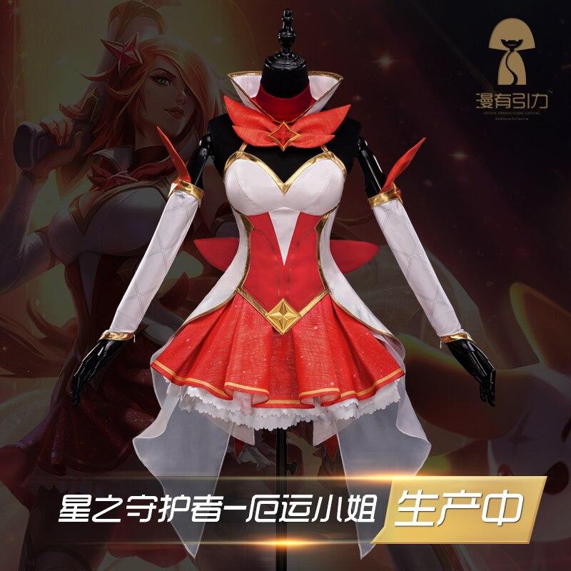 New!!LOL Start Guardian Magic girl The Bounty Hunter Miss Fortune The Dark Sovereigni Syndra cosplay costume womens dress socks