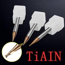 Высокоточная концевая фреза, фрезерные режущие инструменты для стали/меди/алюминия, микро-карбидная фреза, маленькая Концевая фреза