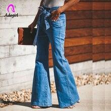 Лучший!  Джинсы с высокой талией для женщин 2019 Узкие эластичные джинсовые облегающие бандажи Бинты скинни