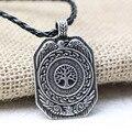 1 unids Vikingos Legendaria Del Árbol de La Vida Diaria de colgante, Collar Amuleto Runas Collar Colgante Amuleto Talismán Nórdico Vikingo