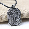 1pcs Vikings Amulet pendant Necklace Legendary The Daily Tree of Life Runes Amulet Pendant Necklace Viking Nordic Talisman