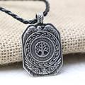 1pcs Vikings Amulet pendant Necklace Legendary The Daily Tree of Life Runes Amulet Pendant Necklace Viking Nordic Talisman
