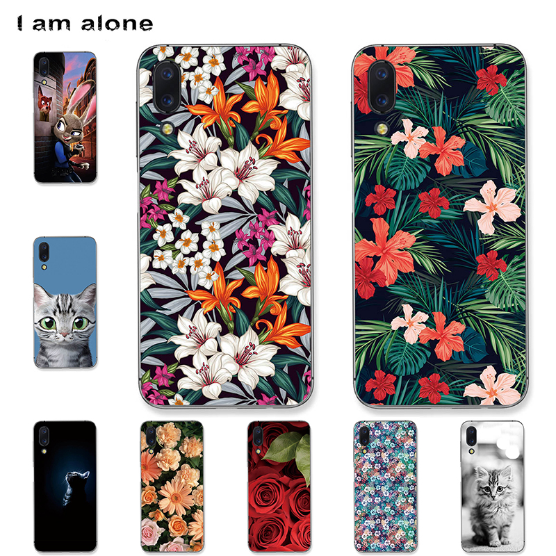 I am alone Phone Cases For Umidigi One Pro 5.9 inch Soft TPU Mobile Fashion Color Black For Umidigi One Bags Free Shipping