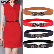 Awaytr Fashion Belt For Women Wild Imitation Rose Leather Re