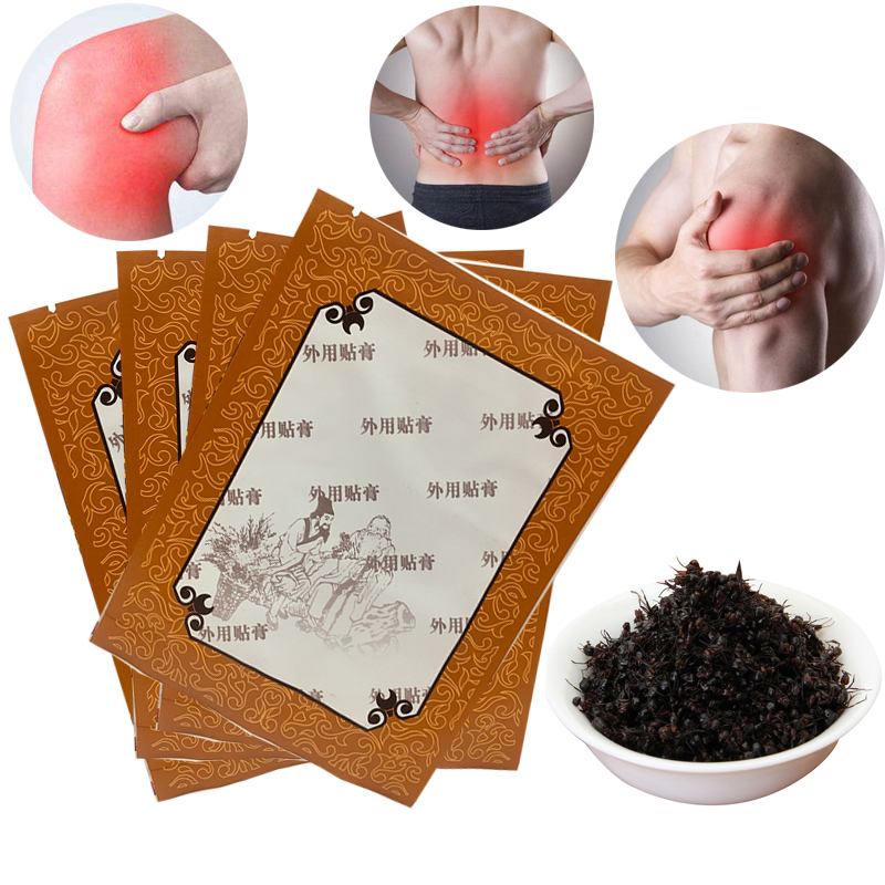 5 Pieces Far-infrared Therapy Black Ants Magnet Pain Relief Patch Arthritis/Back/muscal Pain Adhesive Black Medical Patch