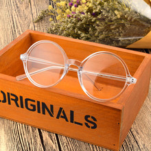 TR90 Vintage Transparent Round Glasses Men Women 43mm/58mm Retro Small Oversized Eyeglasses Optical Prescription Frames Eyewear