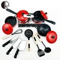 Frete Grátis Novo 13 Conjunto Crianças Fingir Brinquedos de Cozinha Jogo de Aprendizagem Educacional Cozinha Panelas Pot Pan Faca Toy Atacado