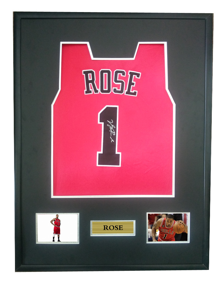the best attitude 2ea75 2b3f5 US $675.0 |Derrick Rose signed autographed basketball shirt jersey come  with Sa coa framed Bulls-in Frame from Home & Garden on Aliexpress.com | ...