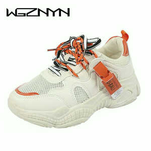 Image 2 - 2020 קיץ Pantshoes נוח לנשימה רשת מאמני שמנמן עקבים נשים פלטפורמת סניקרס נעלי אישה מזדמן נקבה נעלי W208
