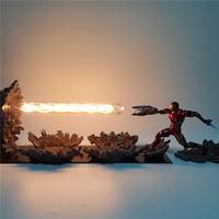 Avengers Endgame Figure Iron Man MK50 LED Night Lamp Anime Movie Avangers 4 Iron Man Light Table Lamp for Children Man MY1