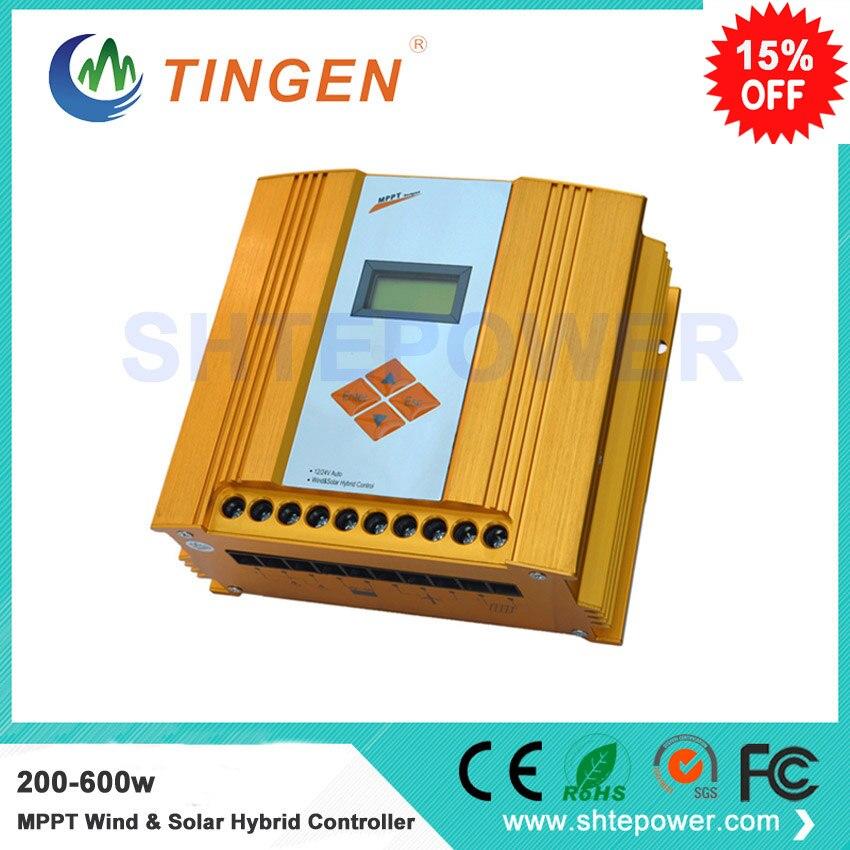 painel solar controlador de carregamento e sistema de turbina eolica controlador hibrido 200 600w mppt frete