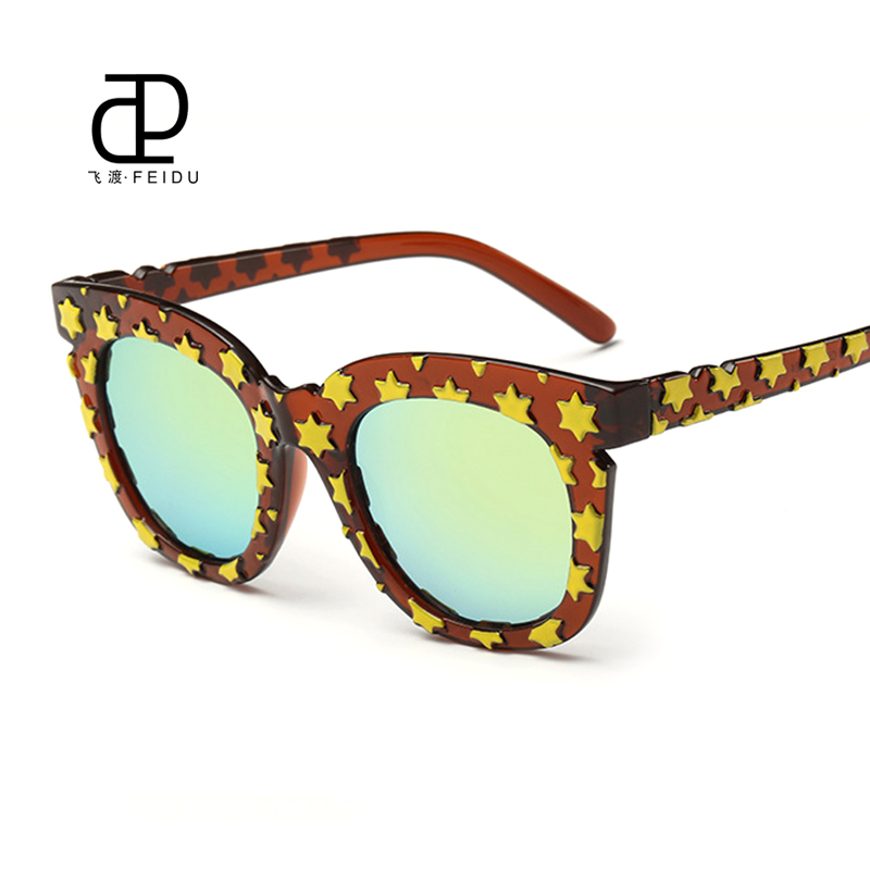 b5a248d6eced FEIDU 2016 Brand Designe Fashion Cat Eye Sunglasses Women Star Frame Sun  Glasses For Women Driving UV400 Oculos De Sol Feminino