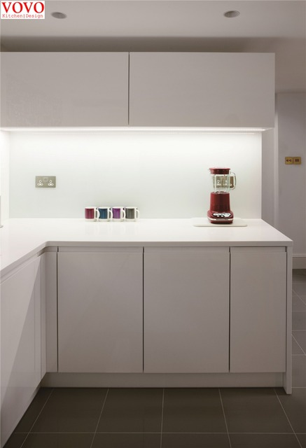 Handless Small L Shaped Kitchen Cabinet In Kitchen Cabinets From