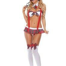 Женщин Sexy school girl костюм белье пикантная обувь эротические школьница роль играют женщины интимной одежды игрушки Порно секс Ночное