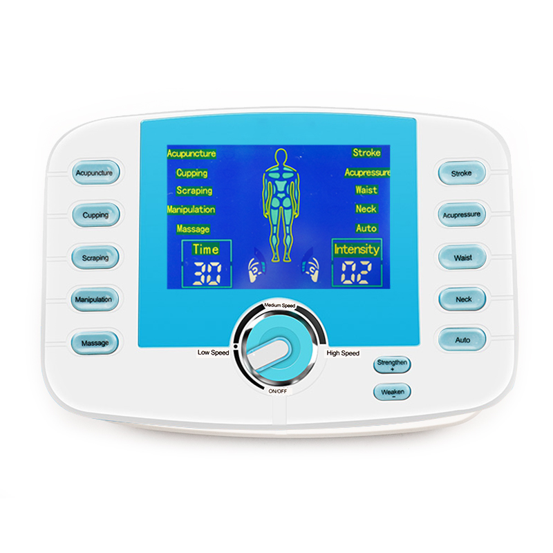 10 Modes Electronic Pluse Massager Voice Prompts Body Relax Muscle Stimulator Tens Acupuncture Digital Meridian Machine+4 Pads hot electric slimming full body relax pulse muscle stimulator tens therapy machine massager vibrateur with 20pcs tens pads