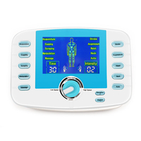 10 Modes Electronic Pluse Massager Voice Prompts Body Relax Muscle Stimulator Tens Acupuncture Digital Meridian Machine+4 Pads