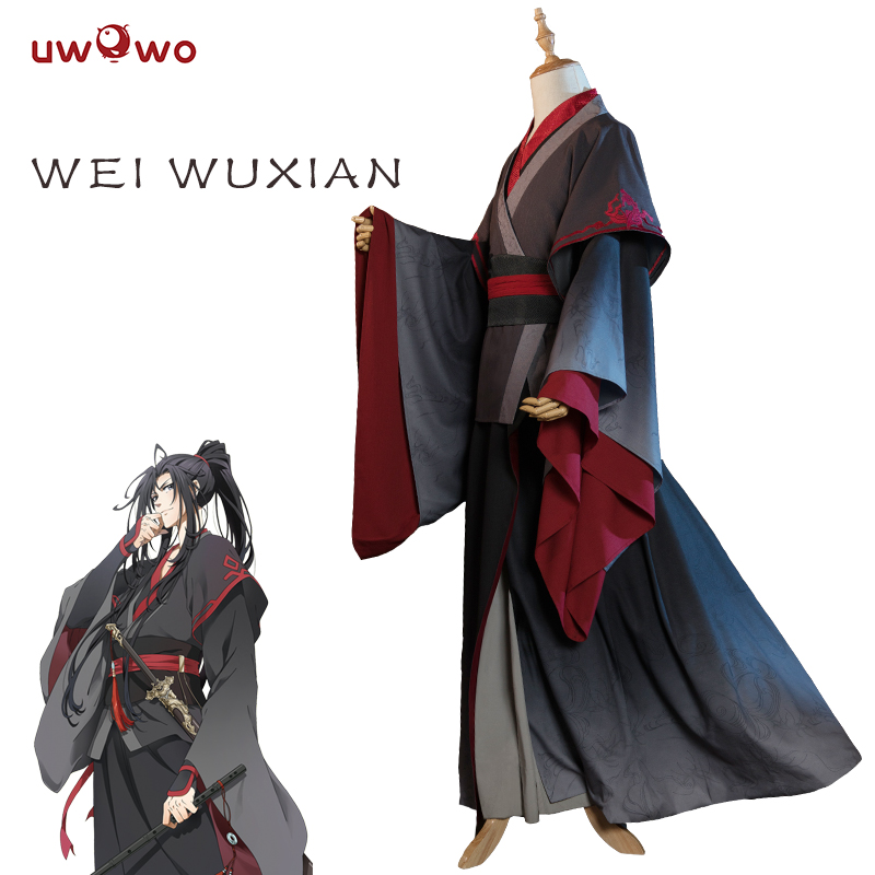 Defective UWOWO Wei Wuxian Cosplay Mo Xuanyu Costume Anime Grandmaster Of Demonic Cultivation Mo Dao Zu Shi Without Head Band