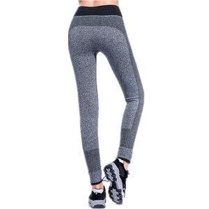 Image 3 - SVOKOR mallas deportivas de secado rápido para mujer, Leggings S XL a rayas, profesionales, de secado rápido