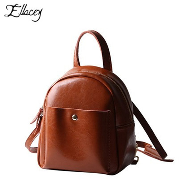 New 2019 Classic Women Backpack Bag Preppy Style School Bags Mini Genuine Leather  Backpacks Leisure Small Travel Bag 463b448d973c0