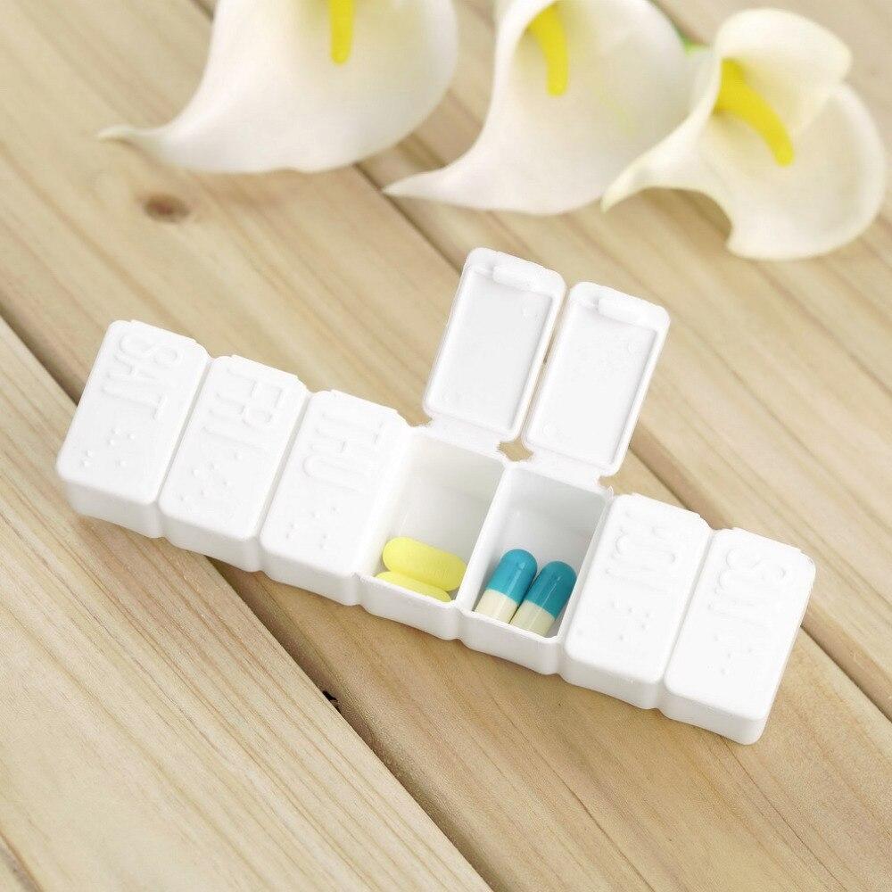 1 компл. Медицина таблетку препарата Мини Pillbox Контейнер одну неделю 7 дней малый несъемный Пластик Case New бесплатная доставка