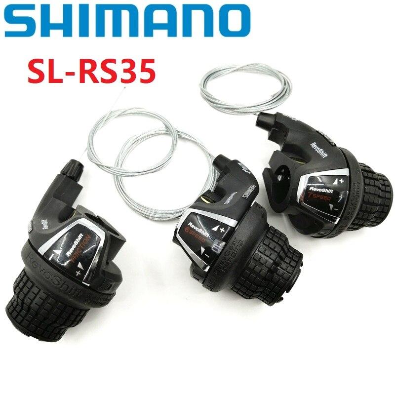 SHIMANO 21 SPEED GRIP SHIFTERS  3X7 3 X 7 Revo SIS Shift Set 7S Twist Shifter
