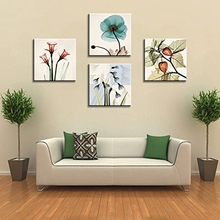 Large Flower Paintings Canvas Home Wall Decorations