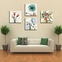 Retro Artwork Paintings Canvas Print Wall Art Flowers Home Decorations Flower Picture for Bathroom Shop Wall Decor Drop Shipping