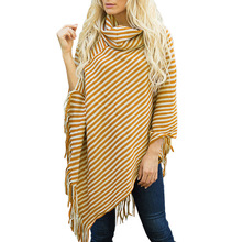 цена на Plus Size Knitted Sweaters Harajuku Korean Fashion Casual Turtleneck Sweater Striped Pullover Loose Batwing Sleeve