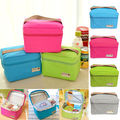 HOT Thermal Insulated Lunch Box Cooler Food picinic Bag Tote Bento Pouch Container Storage bag