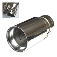 2pcs/lot Universal Car Stainless steel Exhaust End Tips for BMW 2.5 in  3.15 out