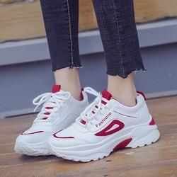 b51af40588 NAUSK 2019 Nova Primavera Moda Sapatos Brancos Sapatos Brancos do Sexo  Feminino Sapatos Casuais Sapatos de